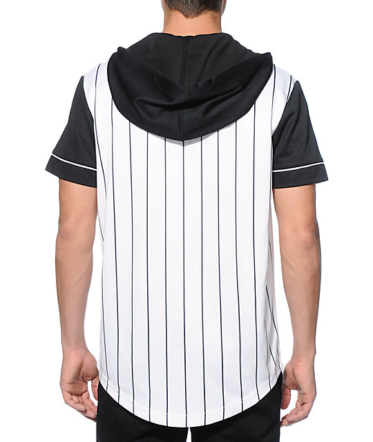 Ninth Hall 9th Inning Pinstripe Hooded Baseball Jersey
