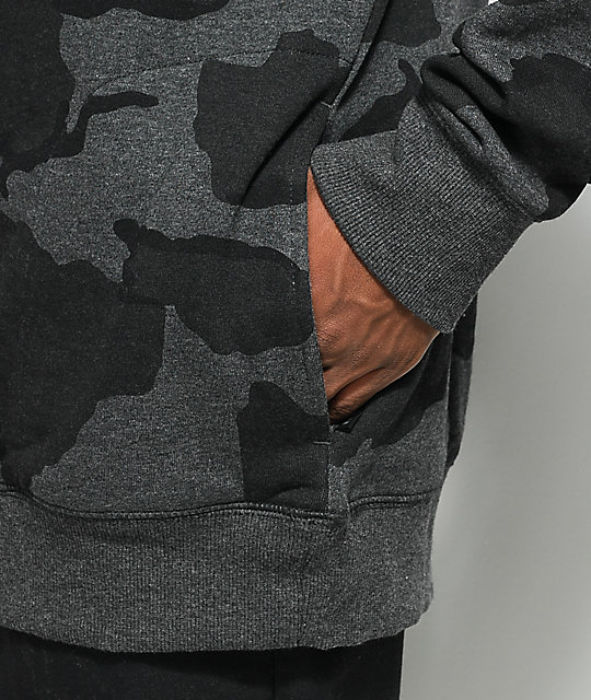Ninth Hall Blend Heather Black Camo Hoodie