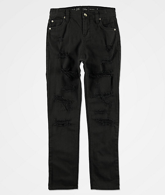 Ninth Hall Boys Rogue Black Denim Jeans