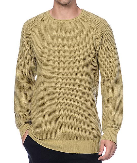 Ninth Hall Commando Khaki Waffle Knit Sweater Zumiez