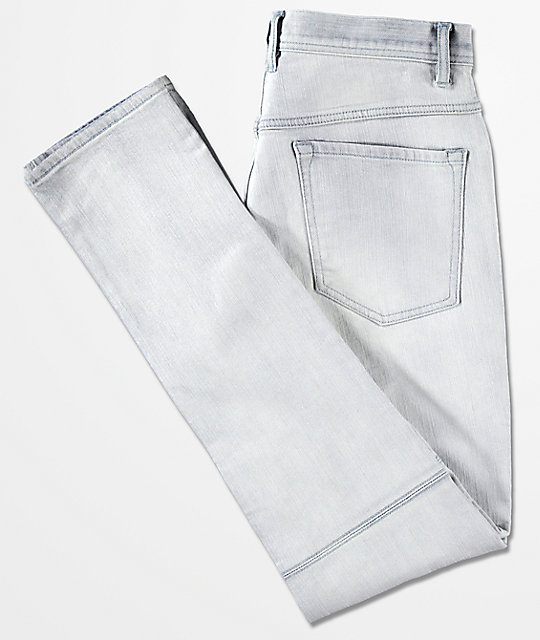 Ninth Hall Decoy Moto Light Aged Destructed Jeans
