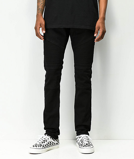 Ninth Hall Decoy Moto Pure Black Jeans