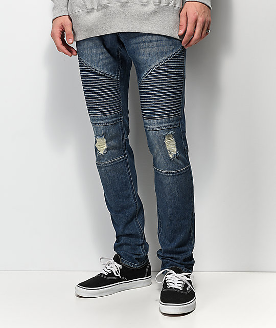 Ninth Hall Decoy Moto Throttle Dark Blue Jeans