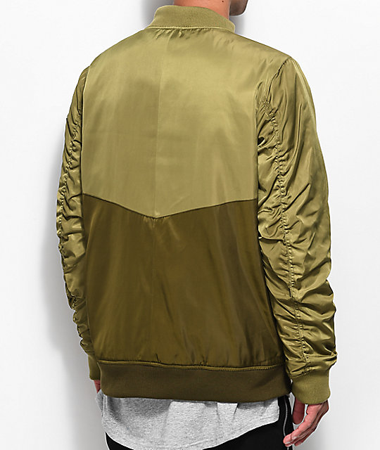 Ninth Hall Eagle Army Green Bomber Jacket