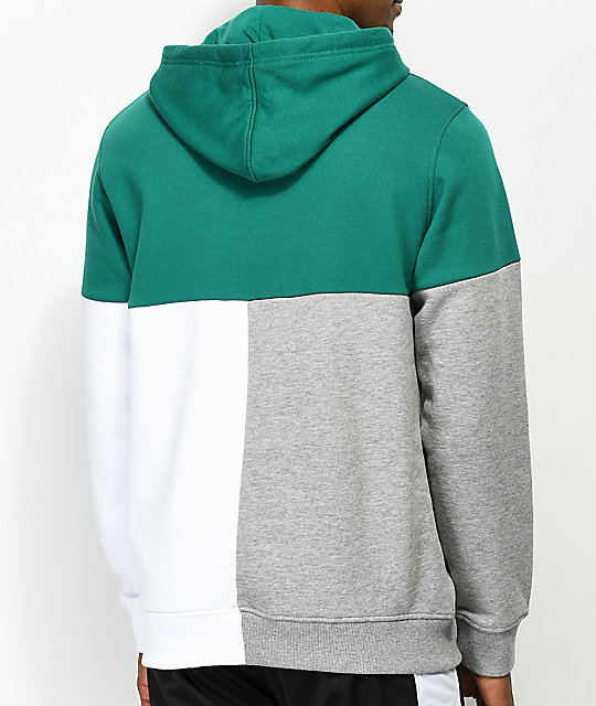 Ninth Hall Flex Green, Grey & White Hoodie