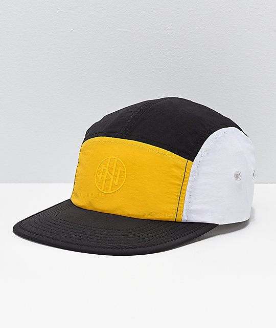 Ninth Hall Geoffrey Colorblock Yellow, Black & White Strapback