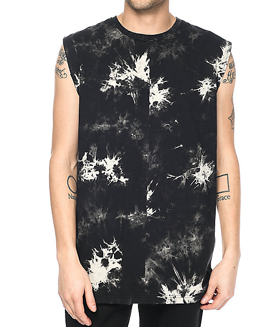 Ninth Hall Hugh Halfner Black Wash Tank Top