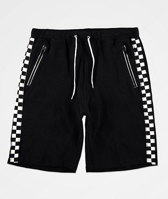 40fad9598 Ninth Hall Jay Pop Black   White Checkered Basketball Shorts