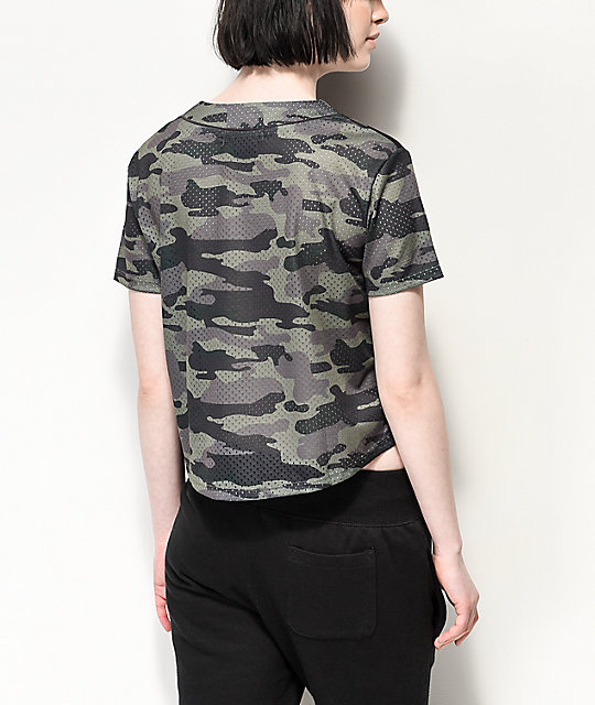 Ninth Hall Kent Green Camo Crop Jersey