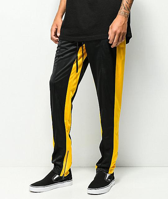 Ninth Hall Nordberg Black Yellow Track Pants Zumiez
