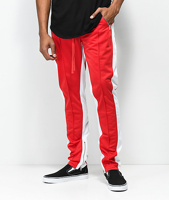 2e4ef5ee3 Ninth Hall Nordberg Red & White Track Pants | Zumiez