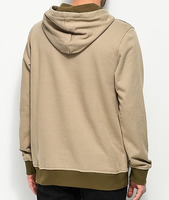 Ninth Hall Panel Medium Khaki & Green Hoodie