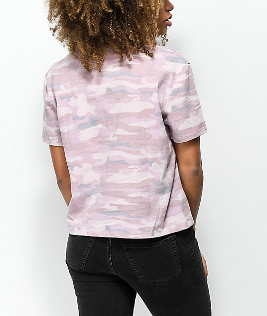 Ninth Hall Pasha Violet Camo Cropped T-Shirt
