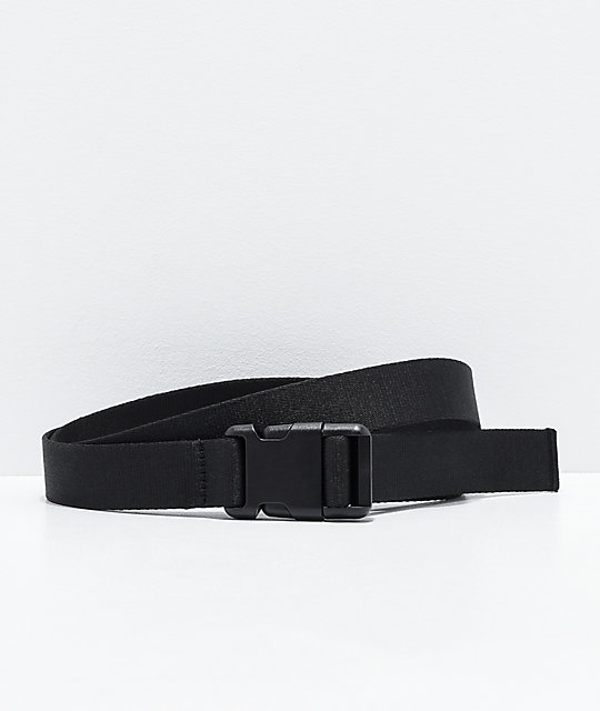 Ninth Hall Pipeline Black Web Belt