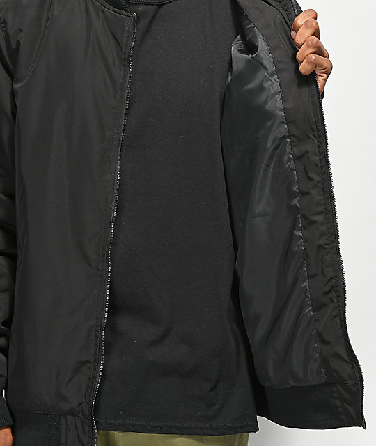 Ninth Hall Privation Black Bomber Jacket