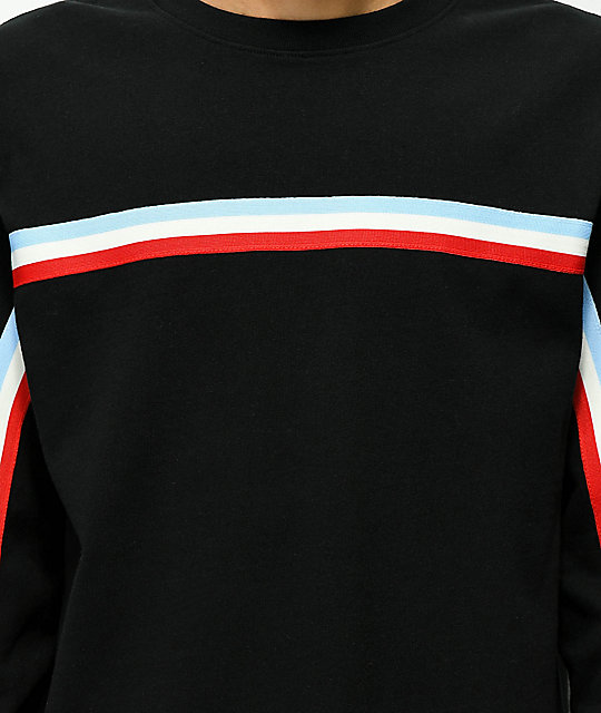 Ninth Hall Race Taped Black Long Sleeve T-Shirt