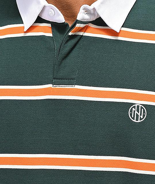 4f024999d Ninth Hall Ruggers Gray & Orange Long Sleeve Polo Shirt   Zumiez