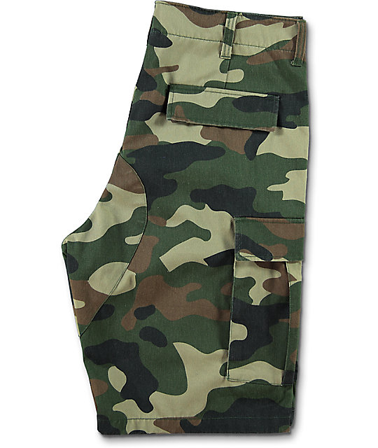 Ninth Hall Shady Camo Cargo Shorts