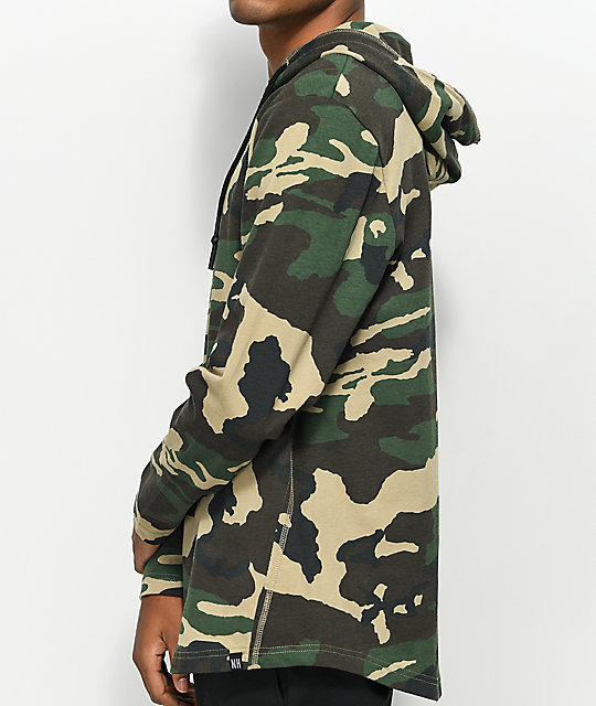 Ninth Hall Surface Woodland Camo Hooded Long Sleeve T-Shirt