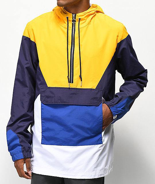 Ninth Hall White Trudge Blue Anorak Jacket Yellow amp; qHrqCnfZdw