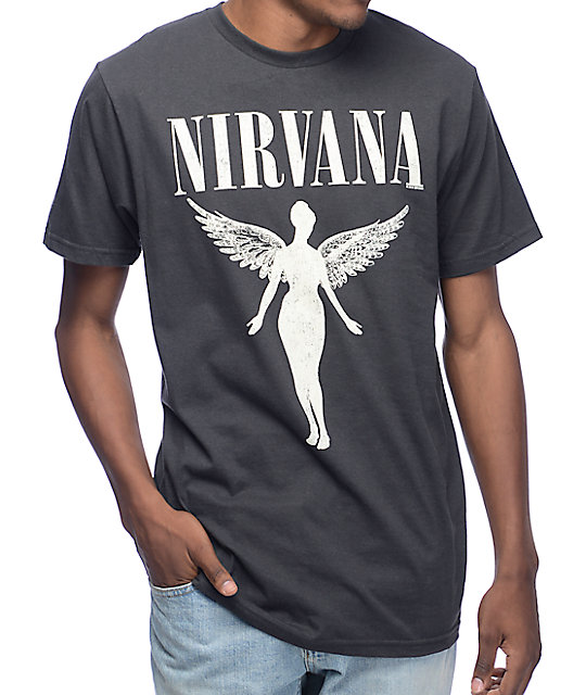 30f776269 Nirvana Tour Vintage Black T-Shirt | Zumiez