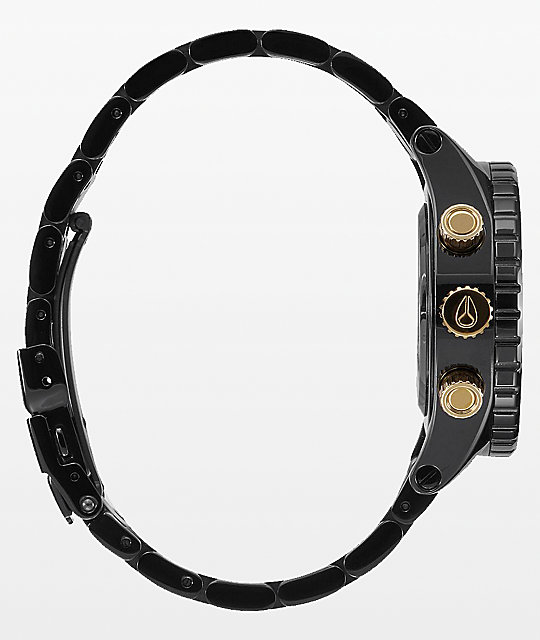 Nixon 38-20 Black & Gold Chronograph Watch