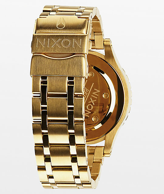 Nixon 38-20 Gold Crystals Chronograph Watch