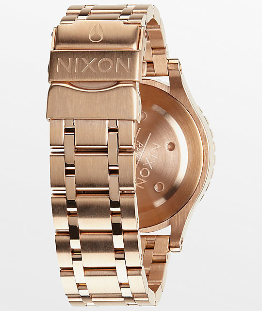 Nixon 38-20 Rose Gold Crystals Chronograph Watch