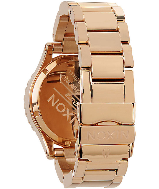 Nixon 42-20 All Rose Gold Chronograph Watch