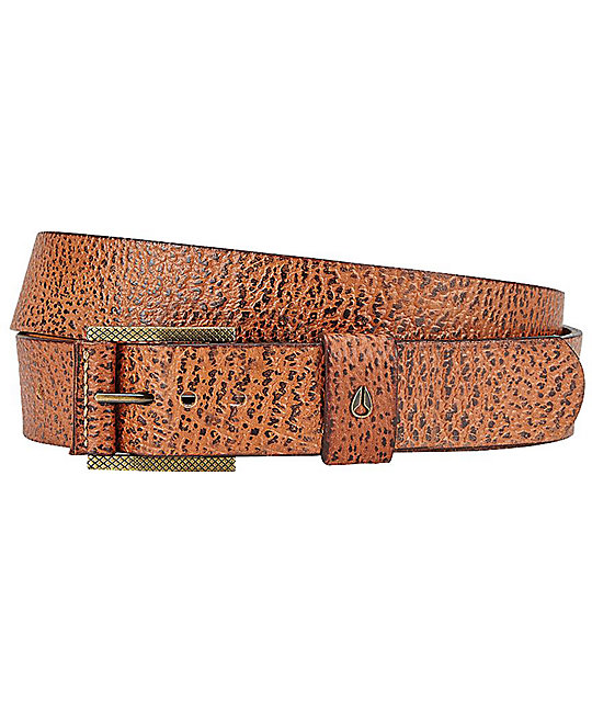Nixon Americana Slim II Brown Belt