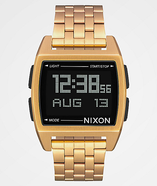 Nixon Base All Gold Digital Watch