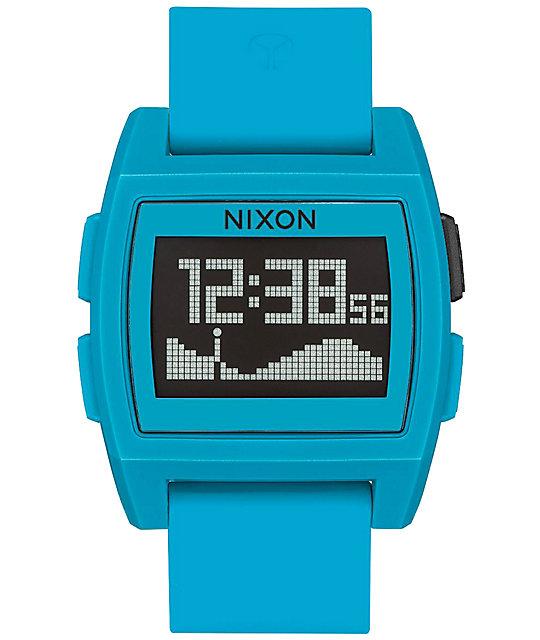 Nixon Base Tide Blue Resin Digital Watch  2051de73a323