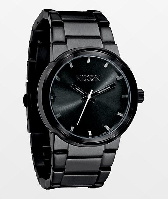 Nixon cannon all black analog watch for Watches zumiez
