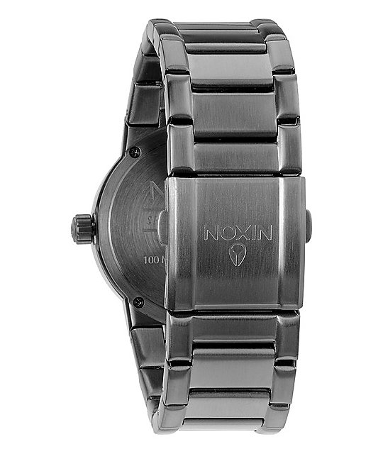Nixon Cannon Gunmetal Analog Watch