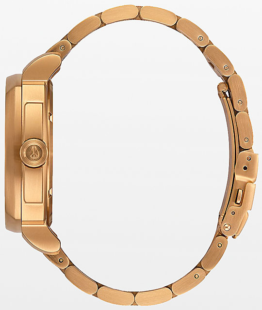 Nixon Charger All Gold Analog Watch