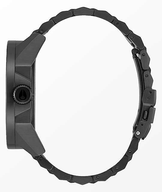 Nixon Corporal SS Black & Concrete Analog Watch