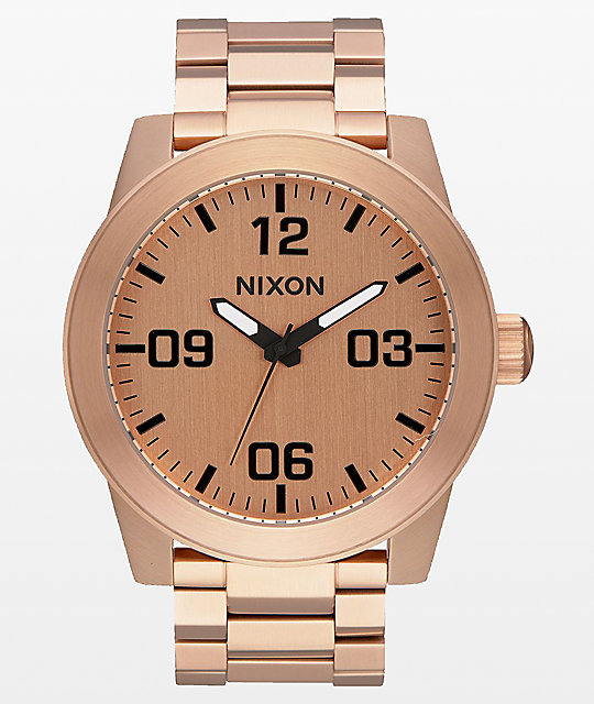 Nixon Corporal SS Rose Gold Analog Watch