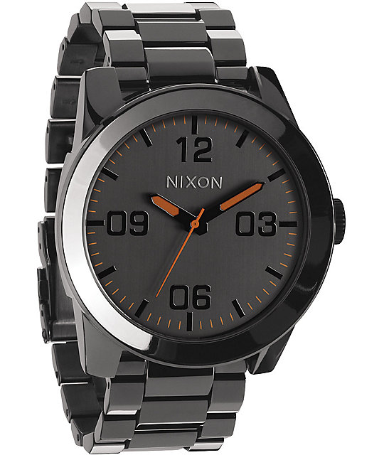 Nixon Corporal SS Steel Grey Analog Watch