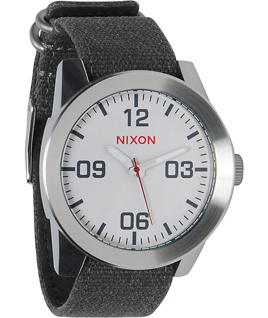 Nixon Corporal White Analog Watch