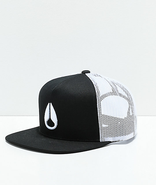 Nixon Deep Down Black & White Trucker Hat
