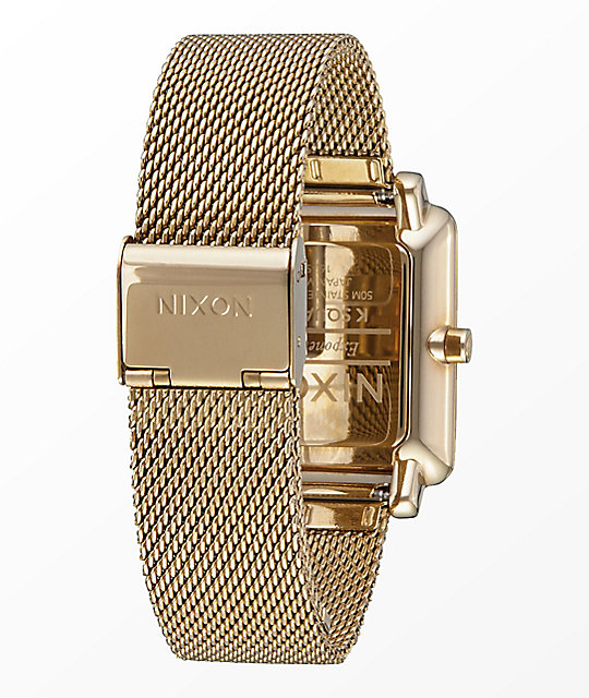 Nixon K Squared Milanese All Gold Watch