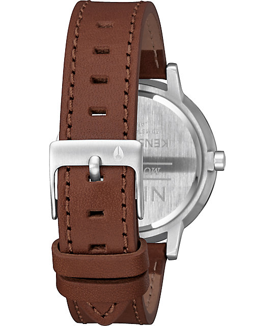 Nixon Kensington Leather Silver, Gold & Rose Gold Watch
