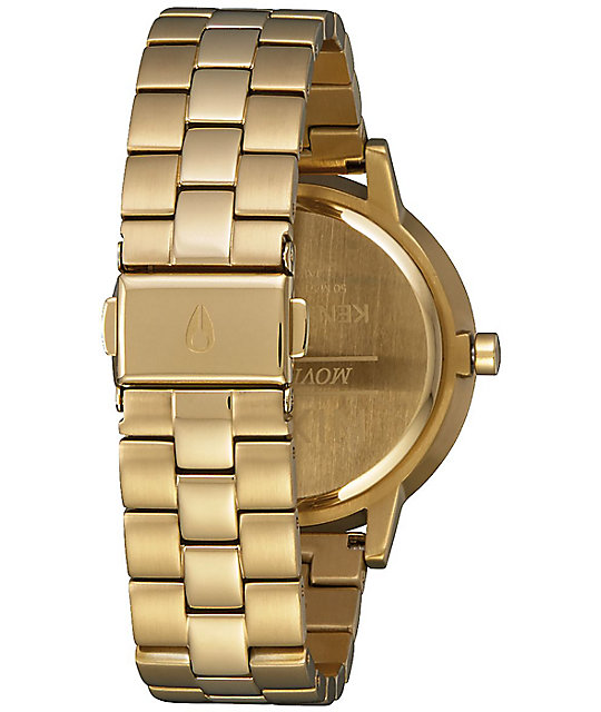 Nixon Kensington Light Gold & Pink Watch