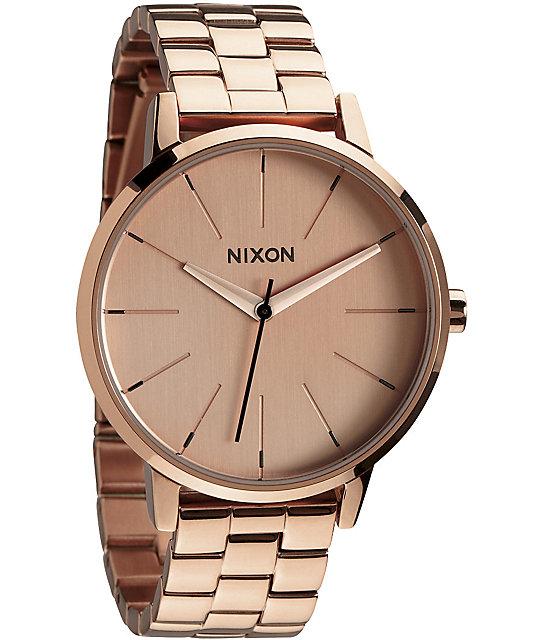 Nixon kensington rose gold analog watch for Watches zumiez