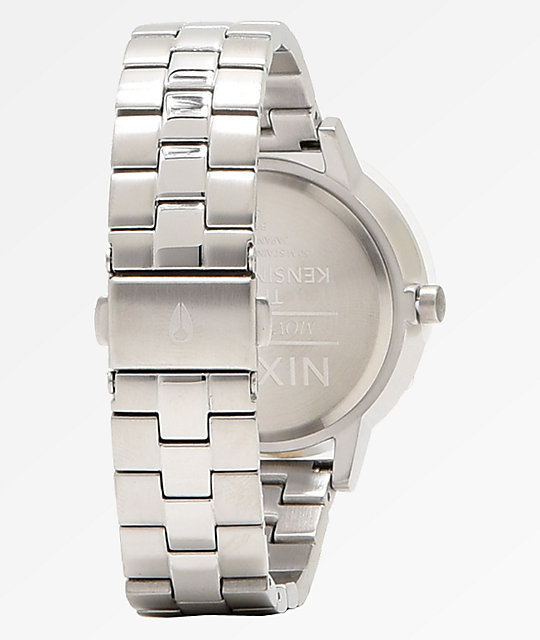 Nixon Kensington Silver Pale Lavender Analog Watch