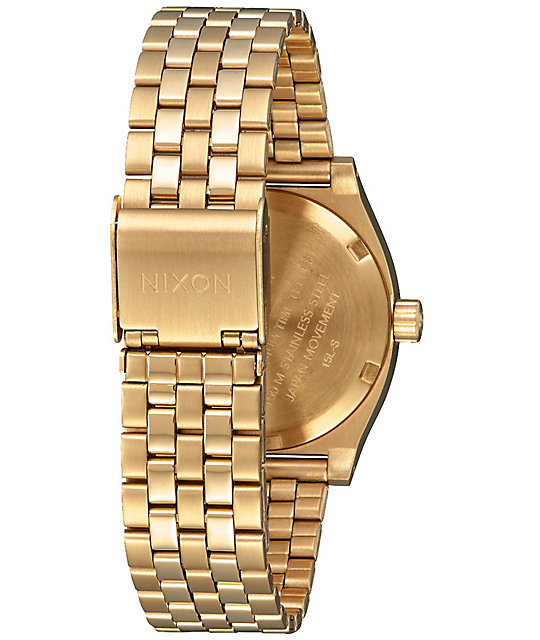 Nixon Medium Time Teller All Gold & White Analog Watch