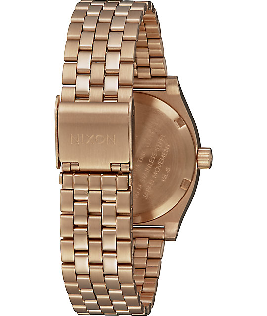 Nixon Medium Time Teller All Rose Gold Watch