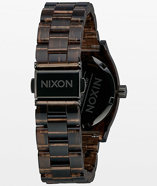 Nixon Medium Time Teller Brown Acetate Analog Watch
