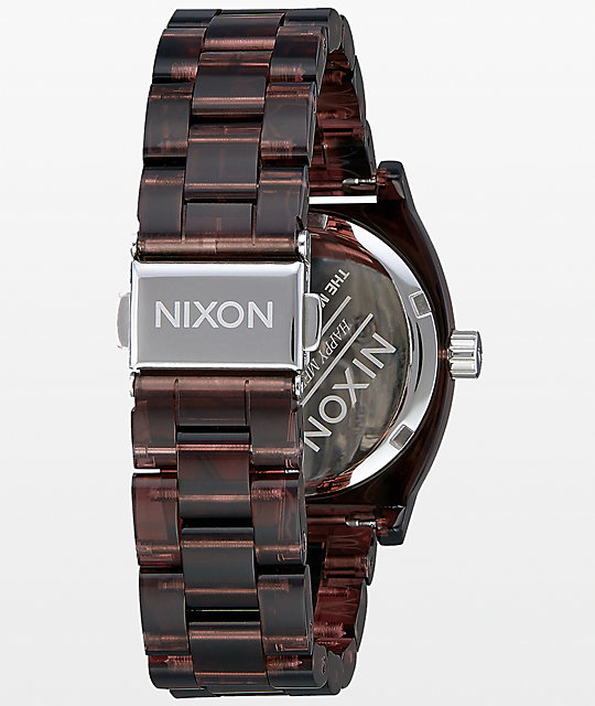 Nixon Medium Time Teller Red Acetate Analog Watch