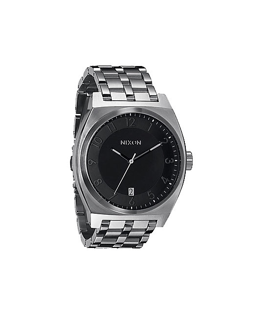 Nixon Monopoly Silver & Black Analog Watch